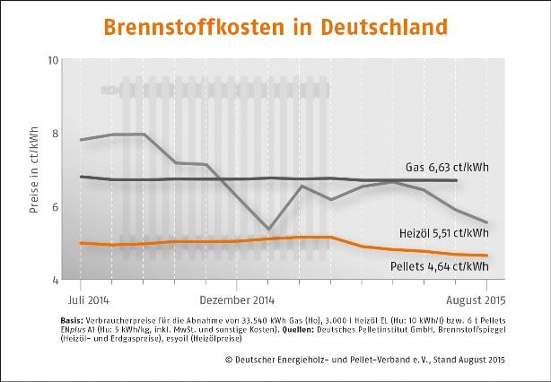 Brennstoffkosten Deutschland klein