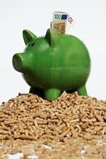 DEPI Sparschwein auf Pellets